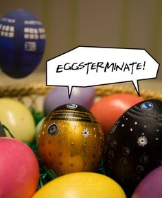 Easter Dalek Eggs! Eggsterminate. So gotta do this for easter!