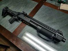 Mossberg Shockwave With Black Aces Tactical Rail Mesa Tactical, Tactical Shotgun, Tactical Gear, Weapons Guns, Guns And Ammo, Mossberg Shockwave, Home Defense Shotgun, Firearms, Shotguns