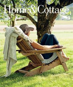 Someday...two of these chairs.   Home & Cottage | a casual way of living...