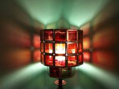 vintage slide lamp shade