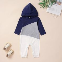 Unisex Baby Toddler Cool Contrast Color Jumpsuit Coverall with Hood – anmino Baby Boy Jumpsuit, Boy Cuts, Baby Suit, Stylish Baby, Lifestyle Clothing, Baby Kids Clothes, Unisex Baby, Outfit Sets, Hooded Jacket