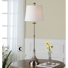 Uttermost Kerman Taupe Gray Glass Buffet Lamp 29944