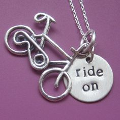 Ride On Bicycle Necklace by sudlow on Etsy, $38.00