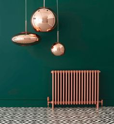 18 really useful hallway decorating ideas from interior designers and industry experts - Alles pin # Old Radiators, Bathroom Radiators, Column Radiators, Kitchen Radiators, Rose Gold Interior, Copper Interior, Painted Radiator, Color Cobre, Copper Bathroom