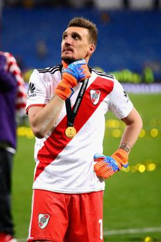 Franco Armani of River Plate looks on after the second leg of the. Escudo River Plate, Rivera, World Of Sports, Goalkeeper, Football Players, Lgbt, Madrid, Two By Two, That Look