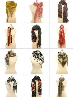 Scarves, scarves, and more scarves <3