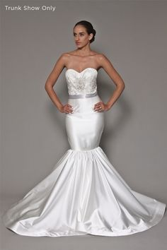 Christian Siriano Sweetheart Mermaid Wedding Dress with Natural Waist in Silk Satin. Bridal Gown Style Number:6872-02