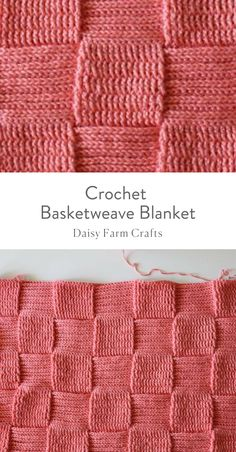 Free Pattern - Crochet Basketweave Blanket,Free Pattern - Crochet Basketweave Blanket Produce crochet quilts your self Who does not love a blanket where you can cover up and loosen up in cold t. Crochet Afgans, Crochet Quilt, Knit Or Crochet, Double Crochet, Single Crochet, Crotchet, Basket Weave Crochet Blanket, Knitted Blankets, Baby Blanket Crochet