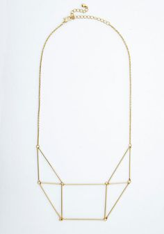Prism She Lovely Necklace. Layer this geometric necklace over your favorite top for a touch of added charm! #gold #prom #modcloth