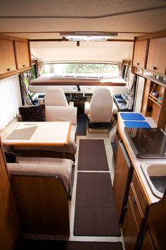 living room & kitchen @ Hymermobil B 654