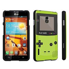 DuroCase ® LG Optimus F7 US780 / LG870 Hard Case Black - (Gameboy Green)