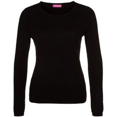 FTC Jumper noir ($190) ❤ liked on Polyvore featuring tops, sweaters, jumpers, black, shirts, cashmere sweater, long sleeve tops, tall shirts, crew neck shirt and crew-neck shirts