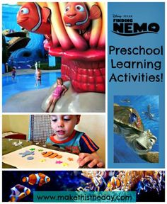 Finding Nemo Toddler and Preschool Activities! - Make This The Day