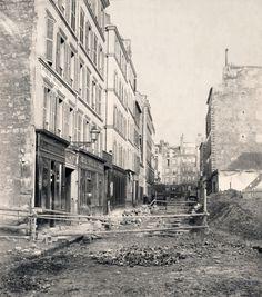 Charles Marville : rue Castex 1876