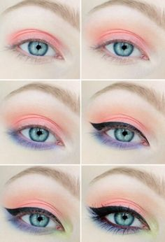 Makeup tutorial eyeshadow peach ideas for 2019 Make-up Tutorial Lidschatten Pfirsich I Makeup Goals, Makeup Inspo, Makeup Art, Makeup Inspiration, Hair Makeup, Beauty Makeup, Makeup Ideas, Pastell Make-up, Eyeshadow Makeup