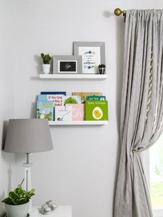 A little nursery book collection tucked in the corner!