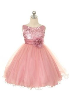Gorgeous Girls Dusky Pink sequin and flower special occasion & bridesmaid dress, http://www.amazon.co.uk/dp/B00DHP63DS/ref=cm_sw_r_pi_awdl_wFUxvb01VNN65