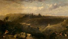 David Roberts - Jerusalem from the Mount of Olives, 1860