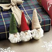 Felt Santa Ornaments - Set of 3