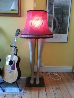 mannequin leg lamp, by me