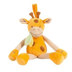 Musical pull string giraffe - #baby #bebe #doudou #knuffel #knuffelbeer #cuddlytoy #kuscheltier #nattou #papa #mama #mom #dad #father #mother #parents #maman #grossesse #zwanger #pregnant #pregnancy #zwangerschap #enceinte #cuddly #peluche #plush #Plusch #schwanger #geboorte #geburt #birth #naissance #vater #eltern #mutter #giraffe #girafe #geel #gelb #yellow #jaune