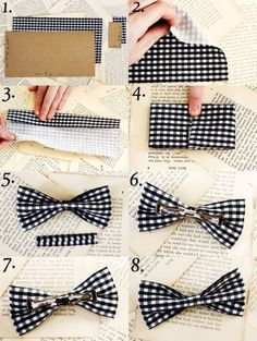 Bow Tie DIY by A Beautiful Mess
