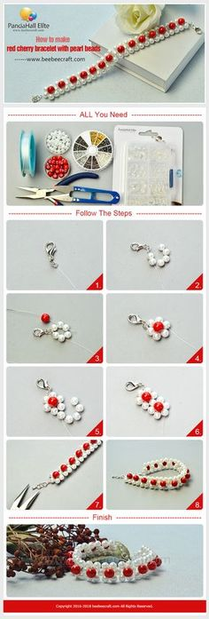 #Beebeecraft tutorial on how to make #bracelet with #pearlbeads