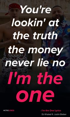 I'm the one #belieberlyrics