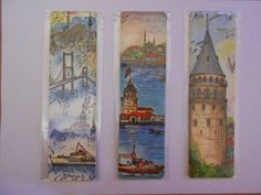 İstanbul Istanbul, Book Markers, Turkish Art, Pen And Watercolor, Tile Art, Quilling, Stained Glass, Decoupage, Exotic