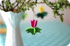 Paper flowers for spring decoration Diy Crafts For Kids, Fun Crafts, Art For Kids, Arts And Crafts, Diy Paper, Paper Crafts, Paper Party Decorations, Easter Tree, Easter Eggs