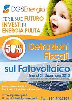 Investire nelle energie rinnovabili, significa investire su un futuro sostenibile, ovvero, avere maggior tutela per l'ambiente conservando risorse naturali per le future generazioni