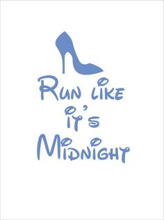 Okay, maybe not for vacay, but def for working out!   Run like it's midnight cinderella disney by ShoogzSensations