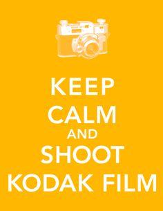 Keep Calm & Shoot Kodak Film printable and wallpapers