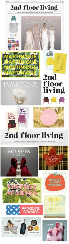 Graphic Design for 2ndFloorLiving.com - a Home Design & Lifestyle Blog.    By Lauren Webster - Branding / Digital / Arts & Crafts