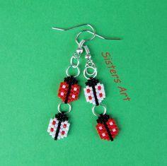 """Orecchini """"Coccinelle"""" realizzati con perline Miyuki delica, by Sisters Art, in vendita su http://www.misshobby.com/it/negozi/sisters-art"""