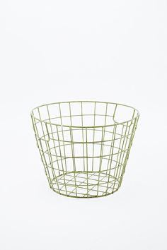 Small Metal Basket in Green - Urban Outfitters