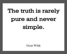 Oscar Wilde Quote on the Truth