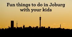 When we said this was the ultimate list of things to do in Johannesburg with kids, we weren& kidding. This list is LONG!