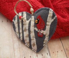 Gorgeous Cardinal in Birch Ornament by Sandhra Lee on Etsy