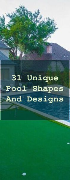 31 Unique Pool Shapes and Designs | Putting Green Backyard Diy | Backyard Golf Ideas | Home Putting Green | Backyard Putting Green Diy. Lots of golf enthusiasts would enjoy their own putting green, but believe they can't afford it. This vacation weekend we made a little backyard dream come true. An Easy To Install, Realistic, Low Maintenance & Affordable Backyard Golf Green For Any Serious Golfer #golfswing #backdrop #golfswing #Pool Home Putting Green, Backyard Putting Green, Pool Shapes, Golf Green, Golf Instruction, Fix You, Golf Courses, Backdrops, Vacation