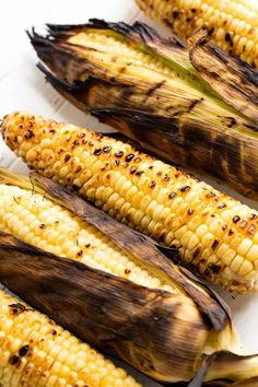 Grilled Corn on the Cob three different ways. Bust out the grill and make this classic summer side dish for all your backyard barbecues, picnics, and potlucks. Side Dishes For Bbq, Summer Side Dishes, Veggie Side Dishes, Food Dishes, Grilled Side Dishes, Corn Recipes, Side Dish Recipes, Vegetable Recipes, Recipies