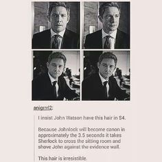 I mean, Martin is pretty irresistible in the first place but damn! That hair would kick start Johnlock