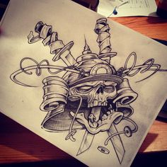 Tattoo Design by Odisie WARRIORS OF DEATH SLEEVE