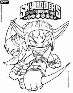 Find This Pin And More On Aces 8th Birthday Free Skylanders Printable Coloring Pages