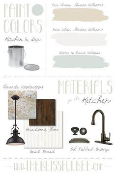 design board for a classic kitchen