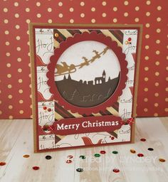 simple recsessed scene card - #christmascheer #simplycreativepapers #firsteditiondies @trimcraft