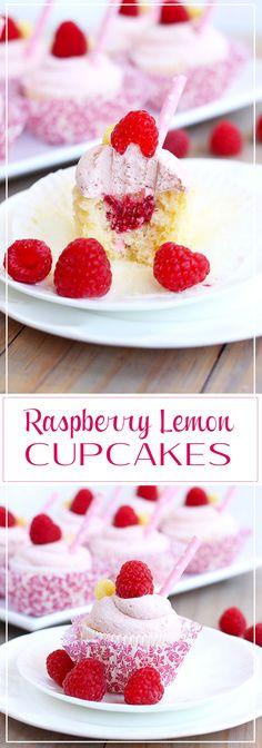 Raspberry Lemon Cupcakes by Sugar Salt Magic. Fresh and vibrant, fluffy and sweet. A perfect little cupcake treat. via @sugarsaltmagic