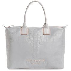 Women's Ted Baker London Rendia Reflective Faux Leather Tote (£145) ❤ liked on Polyvore featuring bags, handbags, tote bags, ted baker tote, ted baker tote bag, ted baker purse, ted baker handbags and ted baker