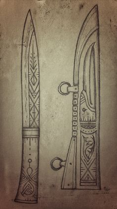 Seax Knife, Dagger Knife, Cool Knives, Knives And Swords, Vikings, Knife Template, Blacksmithing Knives, Knife Patterns, Viking Sword
