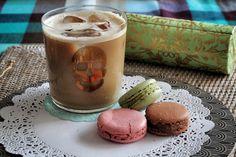 Teşvikiye - Home, iced coffee with macarons